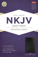 NKJV Giant Print Reference Indexed Bible Black Imitation Leather