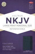 NKJV Large Print Personal Size Reference Indexed Bible, Slate Blue Leathertouch Premium Imitation Leather