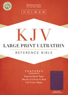 KJV Large Print Ultrathin Reference Bible, Eggplant Leathertouch Imitation Leather
