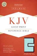 KJV Giant Print Reference Indexed Bible With Magnetic Flap, Brown/Blue Premium Imitation Leather