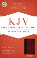 KJV Large Print Personal Size Reference Bible, Classic Mahogany Leathertouch Premium Imitation Leather