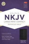 NKJV Large Print Compact Reference Bible With Magnetic Flap Black