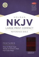 NKJV Large Print Compact Reference Bible Saddle Brown