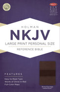 NKJV Large Print Personal Size Reference Bible, Brown/Chocolate Leathertouch Premium Imitation Leather