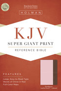 KJV Super Giant Print Reference Bible Pink/Brown Leathertouch Indexed Imitation Leather
