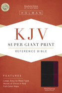 KJV Super Giant Print Reference Bible Black/Burgundy Leathertouch Imitation Leather