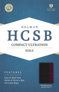 HCSB Compact Ultrathin Bible Black/Burgundy Leathertouch Imitation Leather