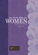 NKJV Study Bible For Women Cocoa Genuine Leather, Indexed Imitation Leather