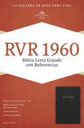 Rvr 1960 Biblia Letra Grande Con Referencias, Negro, Con Ndice Imitation Leather