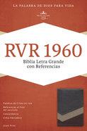 Rvr 1960 Biblia Letra Grande Con Referencias, Marrn/Tostado/Bronceado Imitation Leather