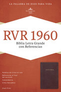 Rvr 1960 Biblia Letra Grande Con Referencias, Borgoa, Con Ndice Imitation Leather
