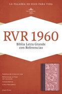 Rvr 1960 Biblia Letra Grande Con Referencias, Borravino/Rosado Imitation Leather