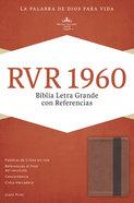 Rvr 1960 Biblia Letra Grande Con Referencias, Cobre/Marrn Profundo Copper/Dark Brown Imitation Leather