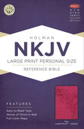 NKJV Large Print Personal Size Reference Indexed Bible Pink