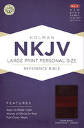 NKJV Large Print Personal Size Reference Indexed Bible Saddle Brown