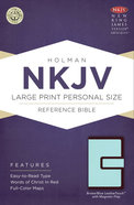NKJV Large Print Personal Size Reference Bible, With Magnetic Flap Brown/Blue Leathertouch Premium Imitation Leather