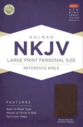 NKJV Large Print Personal Size Reference Indexed Bible, Brown Genuine Cowhide Genuine Leather