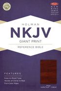 NKJV Giant Print Reference Indexed Bible Brown Premium Imitation Leather