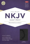 NKJV Giant Print Reference Bible Charcoal Premium Imitation Leather