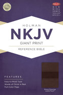 NKJV Giant Print Reference Bible, Brown/Chocolate Leathertouch Premium Imitation Leather