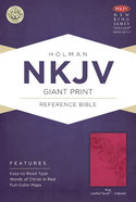 NKJV Giant Print Reference Indexed Bible Pink Premium Imitation Leather