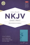 NKJV Giant Print Reference Indexed Bible, Teal Leathertouch Premium Imitation Leather