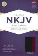 NKJV Giant Print Reference Bible, Black/Burgundy Leathertouch Premium Imitation Leather