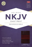 NKJV Giant Print Reference Indexed Bible Saddle Brown Premium Imitation Leather