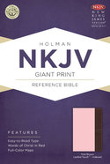 NKJV Giant Print Reference Indexed Bible, Pink/Brown Leathertouch Premium Imitation Leather