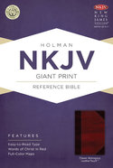 NKJV Giant Print Reference Bible, Classic Mahogany Leathertouch Premium Imitation Leather