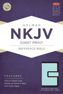 NKJV Giant Print Reference Indexed Bible, With Magnetic Flap Brown/Blue Leathertouch Premium Imitation Leather
