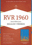 Rvr 1960 Biblia Para Regalos Y Premios Azul Ocano/Papaya (Red Letter Edition) Imitation Leather