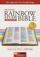 KJV Rainbow Study Bible, Kaleidoscope Black Leathertouch Imitation Leather