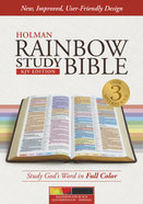 KJV Rainbow Study Bible, Kaleidoscope Black Leathertouch, Indexed Imitation Leather