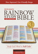KJV Rainbow Study Bible, Mantova Brown Leathertouch, Indexed Imitation Leather