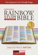 KJV Rainbow Study Bible, Brown/Pink Leathertouch, Indexed Imitation Leather