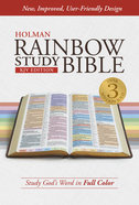 KJV Rainbow Study Bible, Indexed Hardback