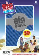 HCSB Big Picture Interactive Bible, Blue/Silver Leathertouch Imitation Leather