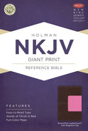 NKJV Giant Print Reference Bible, With Magnetic Flap Brown/Pink Leathertouch Premium Imitation Leather