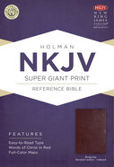 NKJV Super Giant Print Reference Indexed Bible Burgundy Bonded Leather