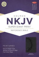 NKJV Super Giant Print Reference Indexed Bible Charcoal Premium Imitation Leather