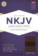 NKJV Super Giant Print Reference Bible, Brown/Chocolate Leathertouch Premium Imitation Leather