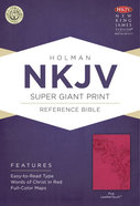 NKJV Super Giant Print Reference Bible Pink Premium Imitation Leather