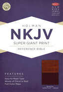 NKJV Super Giant Print Reference Indexed Bible, Brown/Tan Leathertouch Premium Imitation Leather