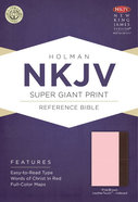 NKJV Super Giant Print Reference Indexed Bible, Pink/Brown Leathertouch Premium Imitation Leather