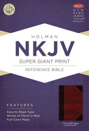 NKJV Super Giant Print Reference Bible, Classic Mahogany Leathertouch Premium Imitation Leather