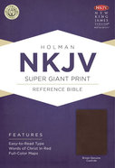 NKJV Super Giant Print Reference Bible, Brown Genuine Cowhide Genuine Leather