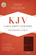 KJV Large Print Ultrathin Reference Bible Brown Premium Imitation Leather