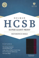 HCSB Super Giant Print Reference Bible Black/Burgundy Leathertouch Imitation Leather