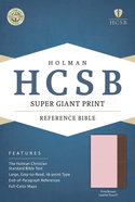 HCSB Super Giant Print Reference Bible Pink/Brown Leathertouch Imitation Leather